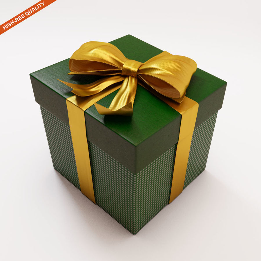 Geschenkbox 2 royalty-free 3d model - Preview no. 2