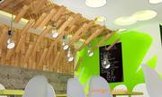 George interior tarafından yaratıcı fastfood 35 metrekare 3d model