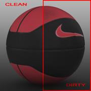 Piłka do koszykówki euro red_black 3d model