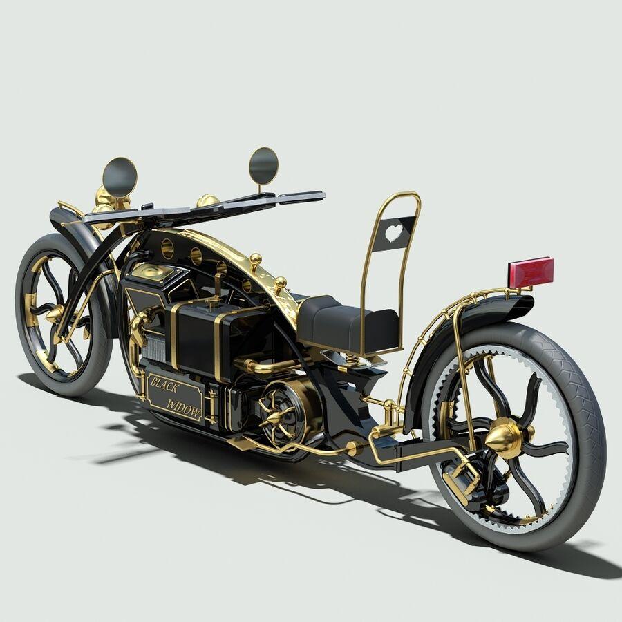 Steampunk Concept Bike royalty-free 3d model - Preview no. 5