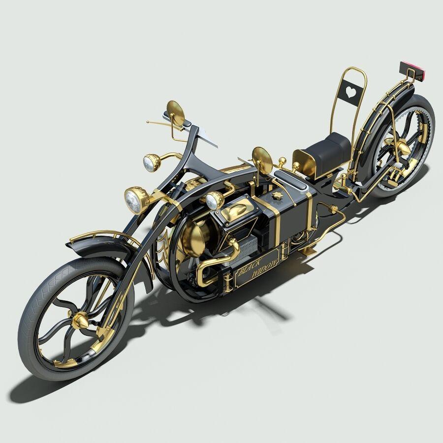 Steampunk Concept Bike royalty-free 3d model - Preview no. 8