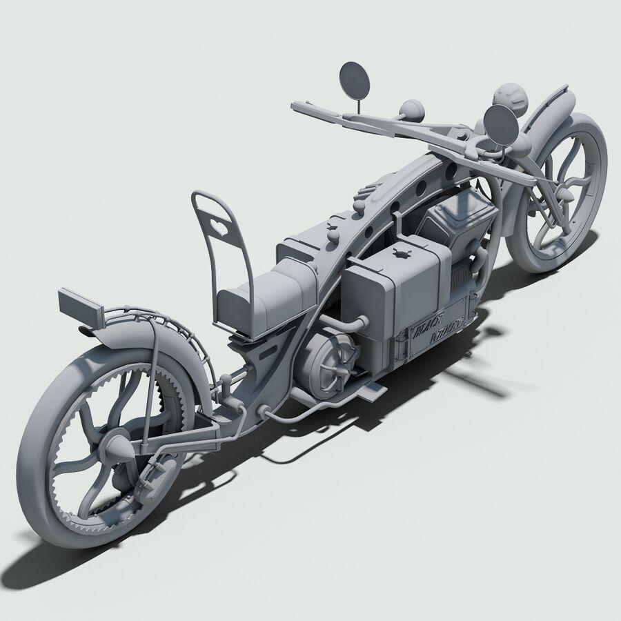Steampunk Concept Bike royalty-free 3d model - Preview no. 12