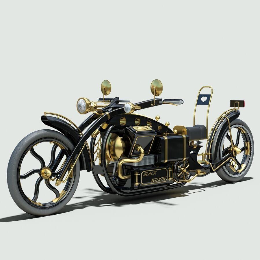 Steampunk Concept Bike royalty-free 3d model - Preview no. 7
