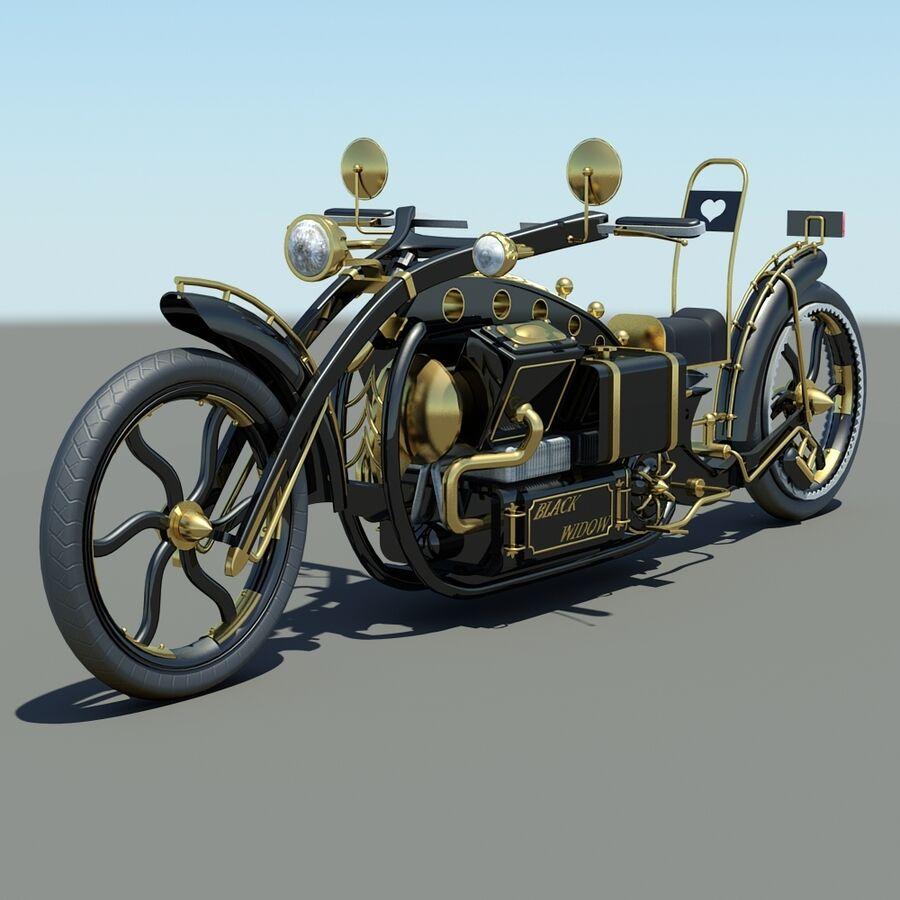 Steampunk Concept Bike royalty-free 3d model - Preview no. 10