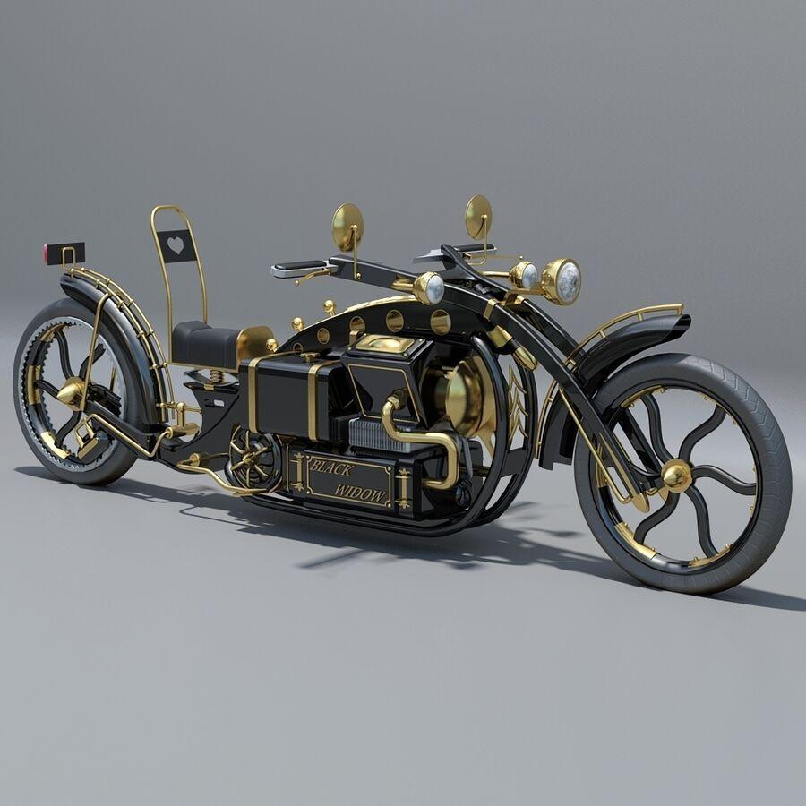 Steampunk Concept Bike royalty-free 3d model - Preview no. 2