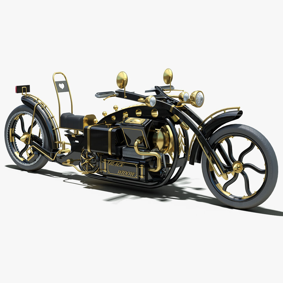 Steampunk Concept Bike royalty-free 3d model - Preview no. 1