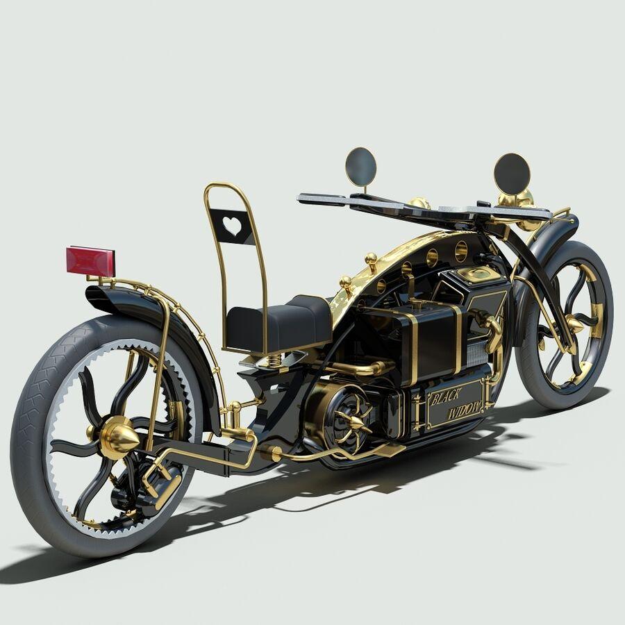 Steampunk Concept Bike royalty-free 3d model - Preview no. 4