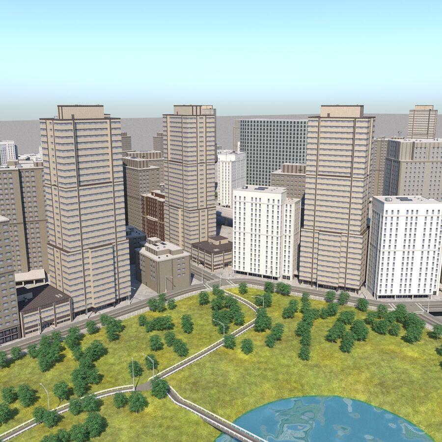 Paisaje de la ciudad royalty-free modelo 3d - Preview no. 4