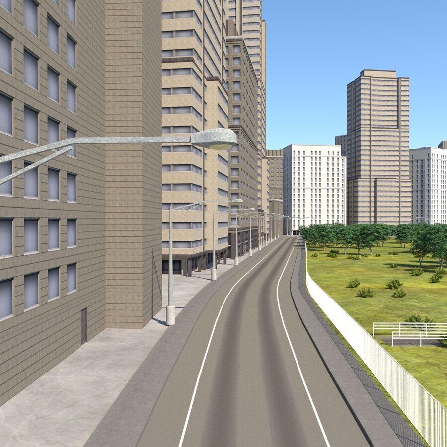 Paisaje de la ciudad royalty-free modelo 3d - Preview no. 3