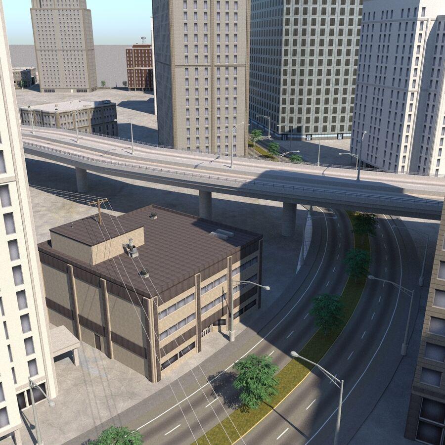 Paisaje de la ciudad royalty-free modelo 3d - Preview no. 7