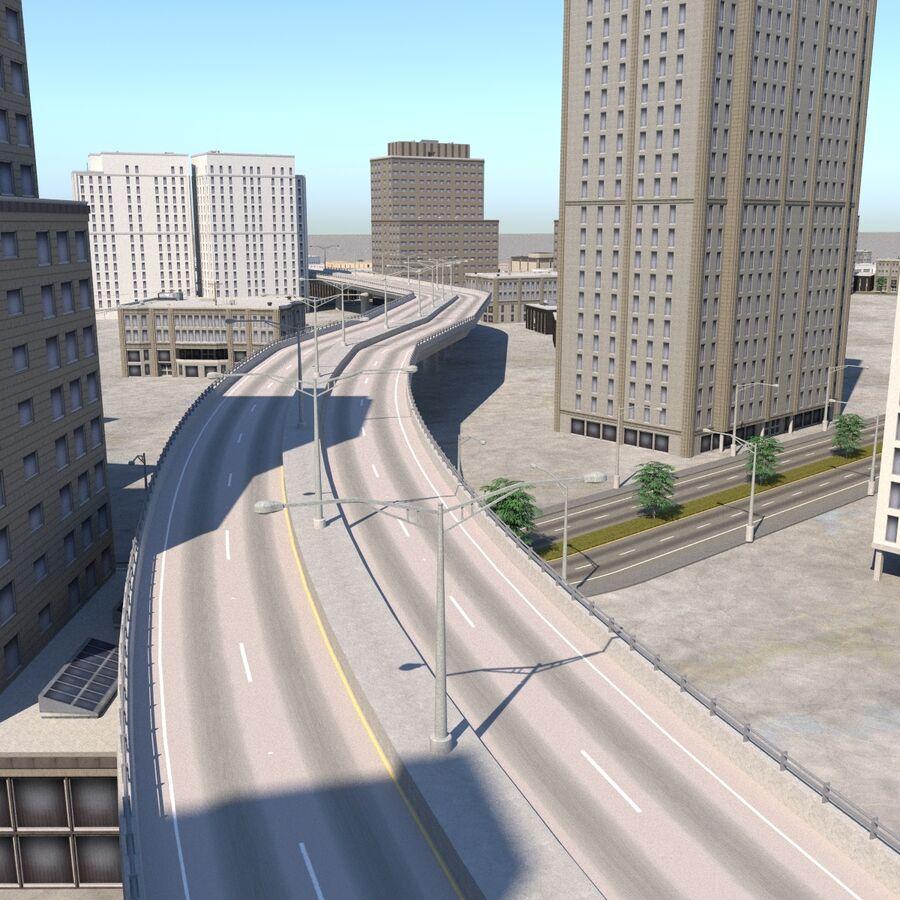 Paisaje de la ciudad royalty-free modelo 3d - Preview no. 8