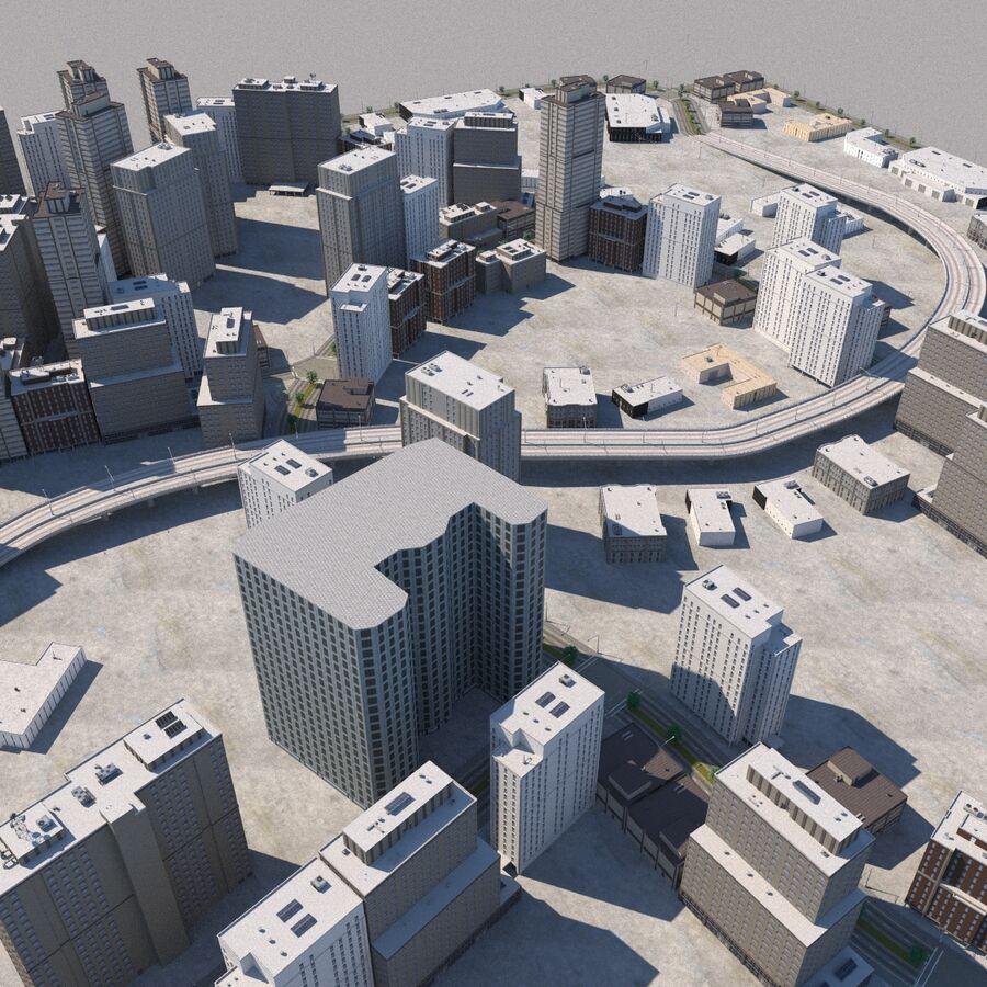 Paisaje de la ciudad royalty-free modelo 3d - Preview no. 9