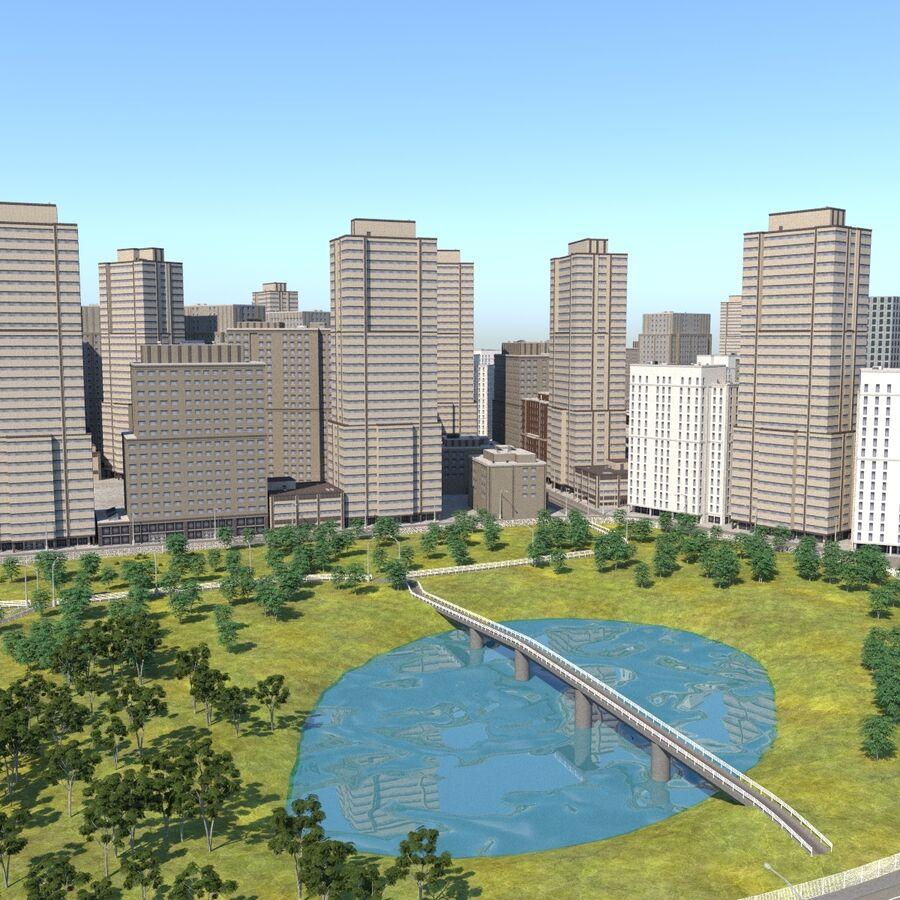 Paisaje de la ciudad royalty-free modelo 3d - Preview no. 2