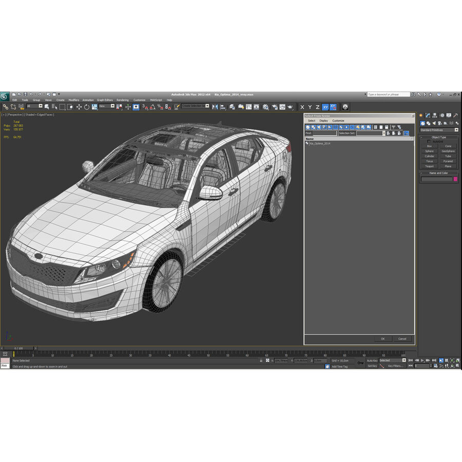 起亚Optima 2014 royalty-free 3d model - Preview no. 69