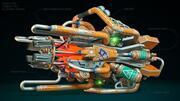Canhão Sci-Fi 3d model