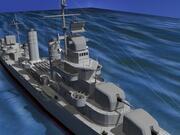 Gleaves Sınıfı Yok Edici USS McCook DD496 3d model