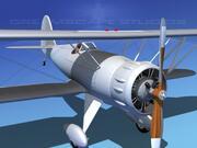WACO YMF-5 Bare Metal 3d model