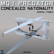 MQ1 Predator Nazionalità nascosta 3d model