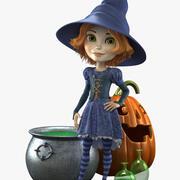 Cartoon Witch 3d model
