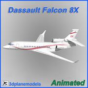 Dassault Falcon 8X Dassault livery 3d model