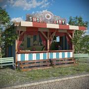 Eski Lunapark Atış Galerisi 3d model