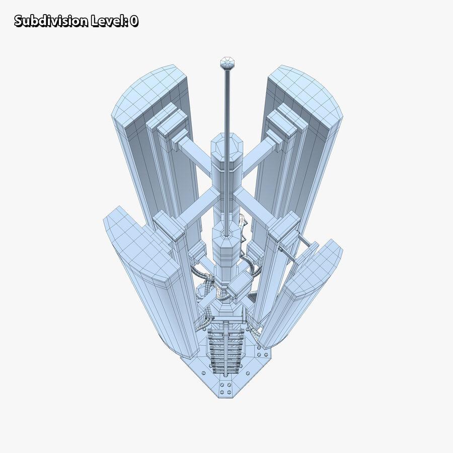 Antena de comunicação royalty-free 3d model - Preview no. 14