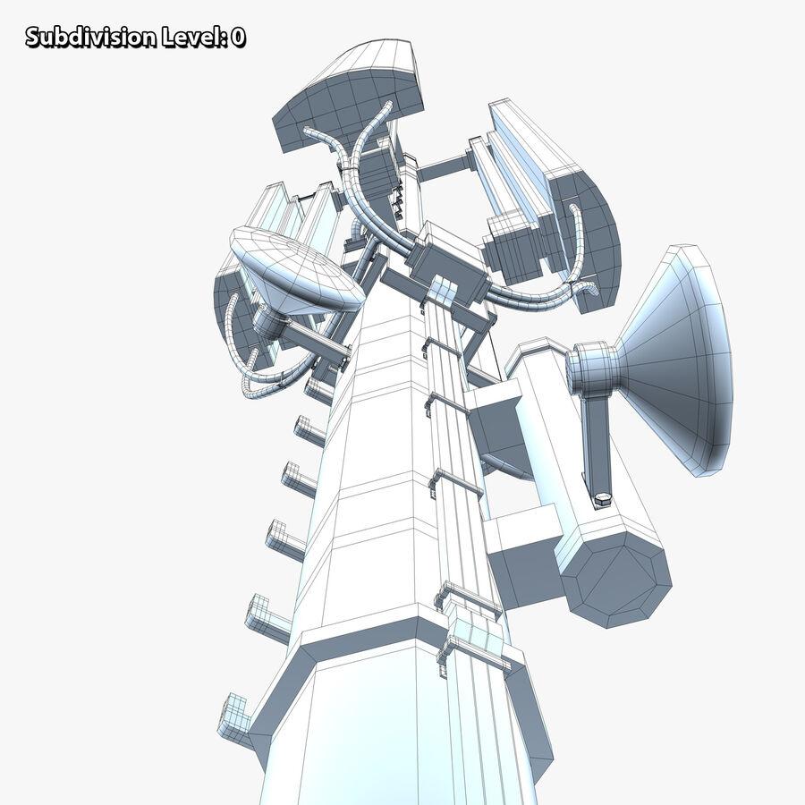 Antena de comunicação royalty-free 3d model - Preview no. 16