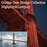 金门大桥收藏 3d model
