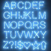 Neon alfabetet 3d model