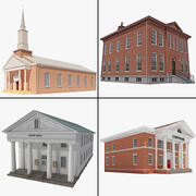 Town Building Collection 3d model