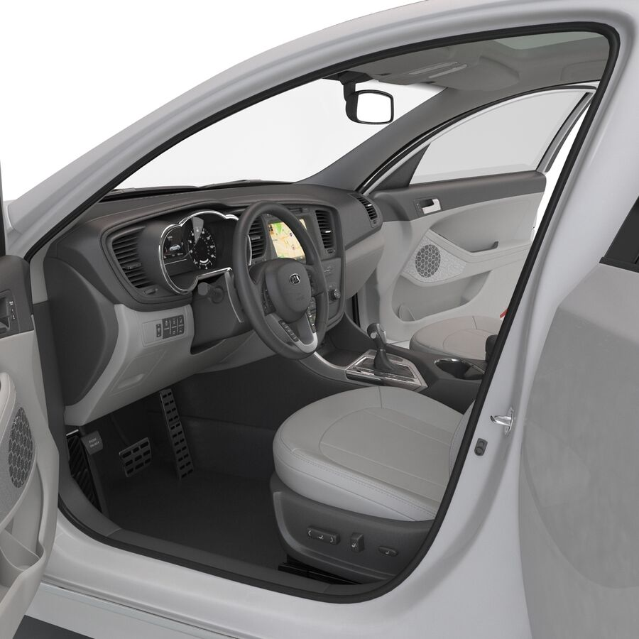 Kia Optima 2014 manipuliert royalty-free 3d model - Preview no. 65