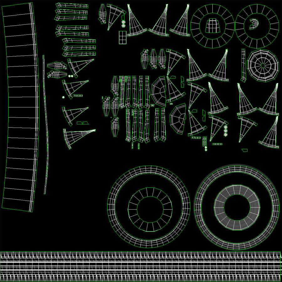 Kia Optima 2014 manipuliert royalty-free 3d model - Preview no. 122