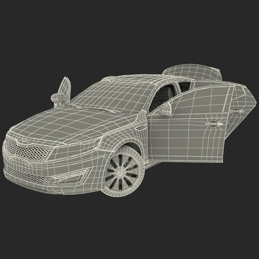 Kia Optima 2014 manipuliert royalty-free 3d model - Preview no. 95