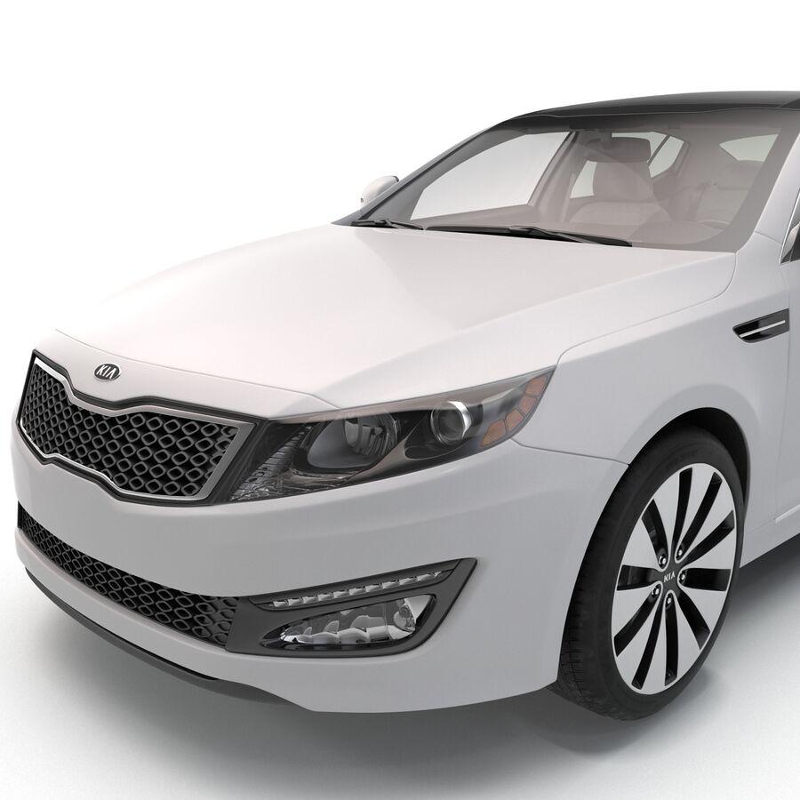 Kia Optima 2014 manipuliert royalty-free 3d model - Preview no. 51