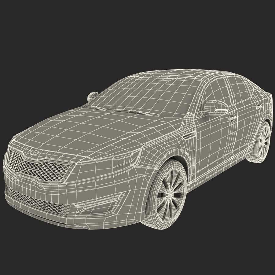 Kia Optima 2014 manipuliert royalty-free 3d model - Preview no. 94