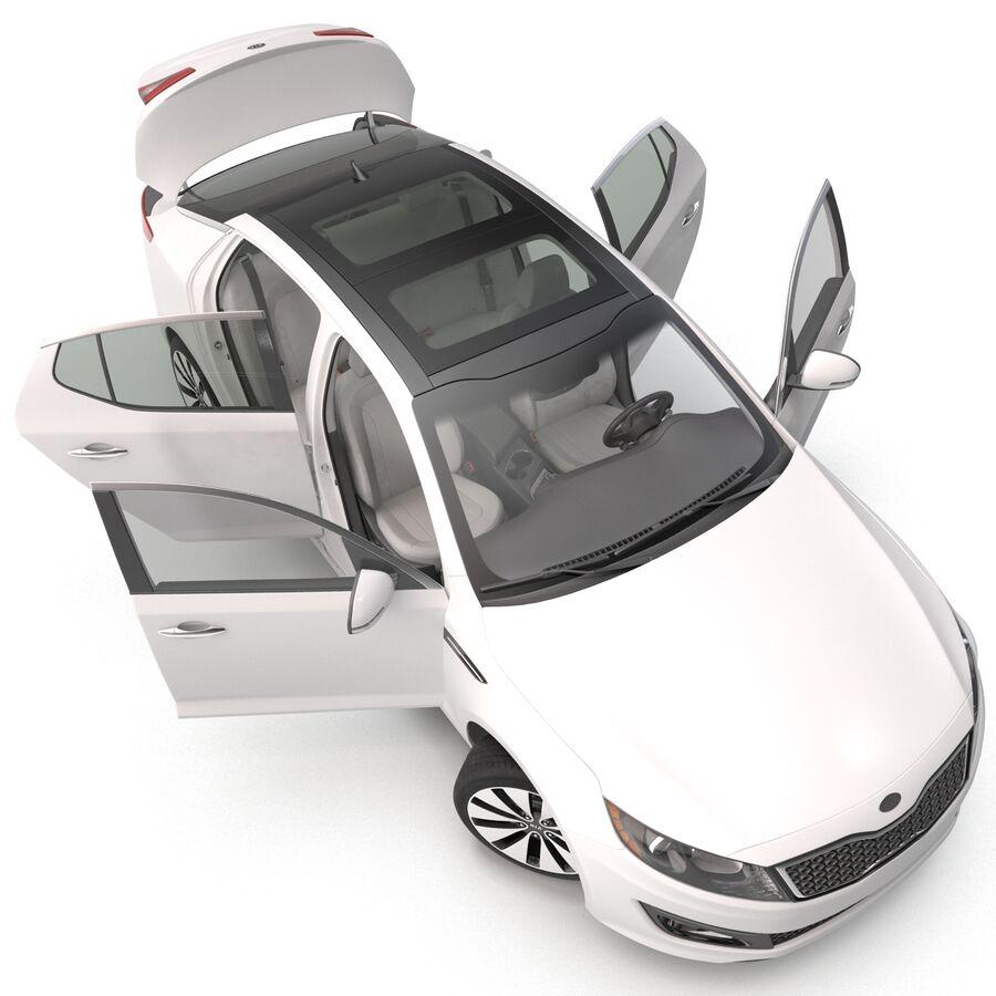 Kia Optima 2014 manipuliert royalty-free 3d model - Preview no. 32