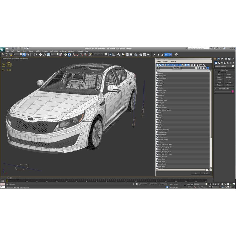 Kia Optima 2014 manipuliert royalty-free 3d model - Preview no. 125