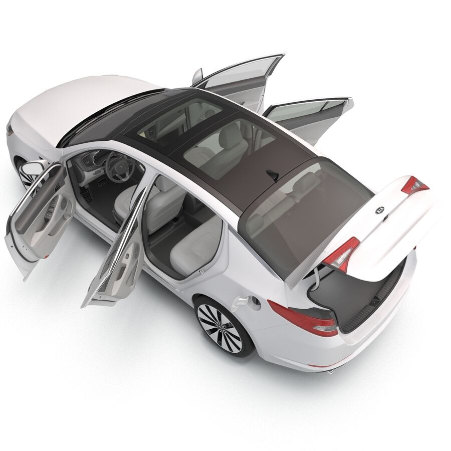Kia Optima 2014 manipuliert royalty-free 3d model - Preview no. 43