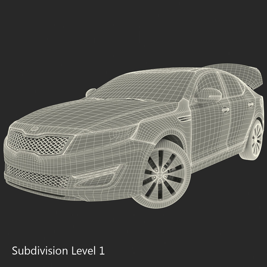 Kia Optima 2014 manipuliert royalty-free 3d model - Preview no. 121