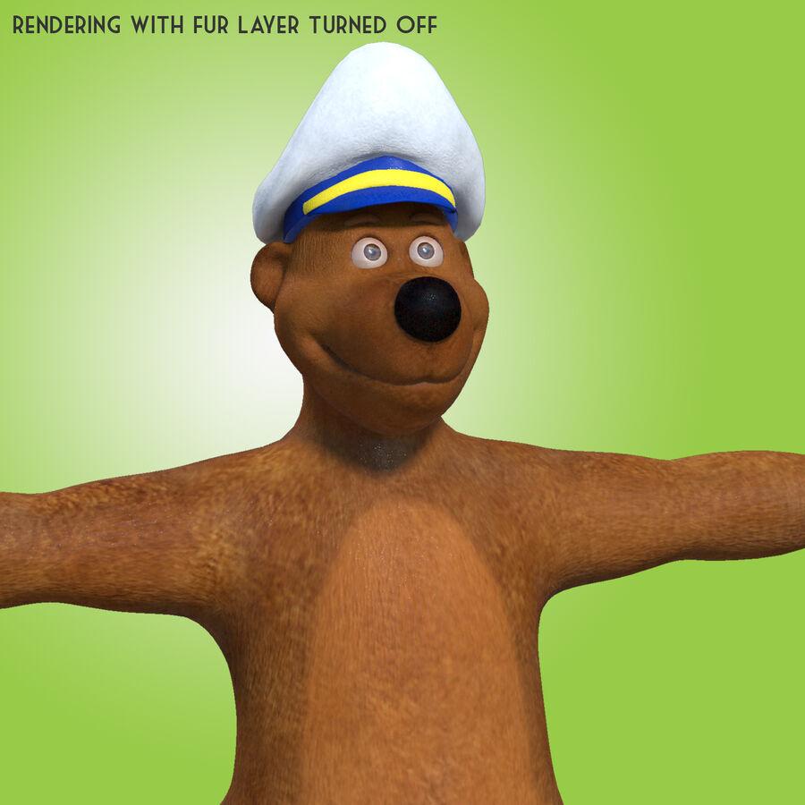 Niedźwiedź kreskówki royalty-free 3d model - Preview no. 3