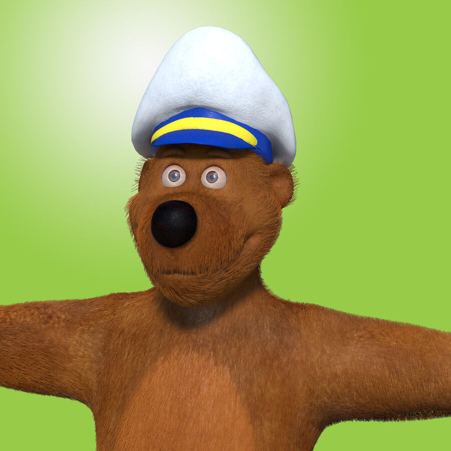 Niedźwiedź kreskówki royalty-free 3d model - Preview no. 4
