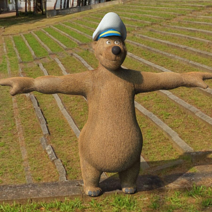 Niedźwiedź kreskówki royalty-free 3d model - Preview no. 18