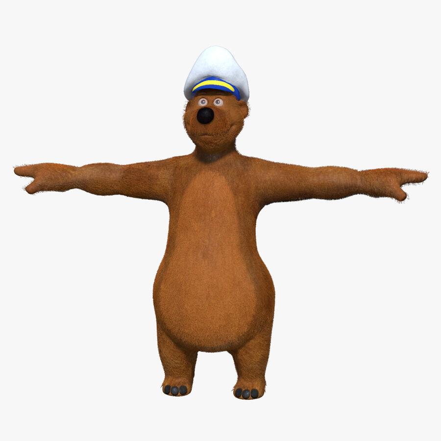 Niedźwiedź kreskówki royalty-free 3d model - Preview no. 1
