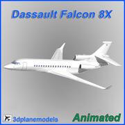 Dassault Falcon 8X Generic white 3d model
