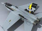 F / A-18D (VMFA (AW) -242) 3d model