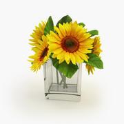 Sunflower Vase 3d model