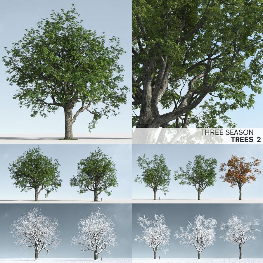 Three Season Trees 2 (+GrowFX) royalty-free 3d model - Preview no. 1