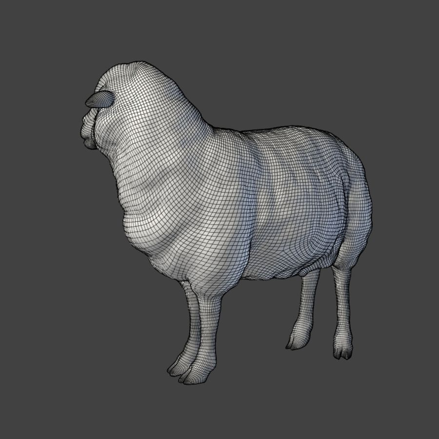 Sheep Statue royalty-free 3d model - Preview no. 5
