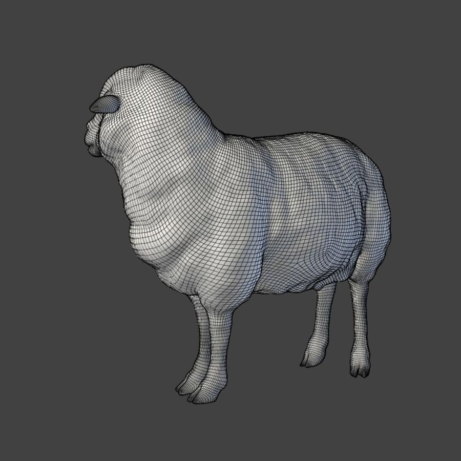 Sheep Statue royalty-free 3d model - Preview no. 2