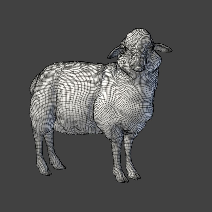 Sheep Statue royalty-free 3d model - Preview no. 4